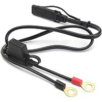 Cable carga Anillo terminal Fácil usar Adaptador desconexión rápida Extensión segura y duradera SAE para motocicleta…