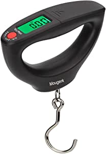 Mougerk 110lb 50kg Portable Digital Hanging Fish Scale Postal Scales, 2 AAA Batteries (Not Included)
