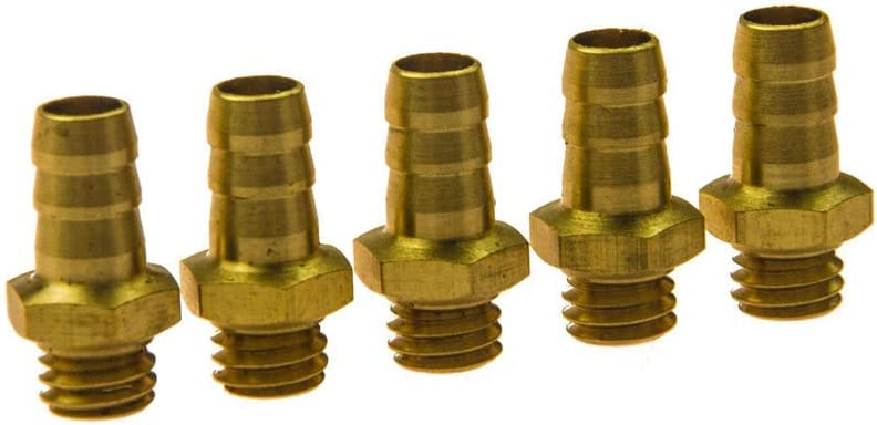 M6 threaded  brass water nipples for rc boat 5pcs
