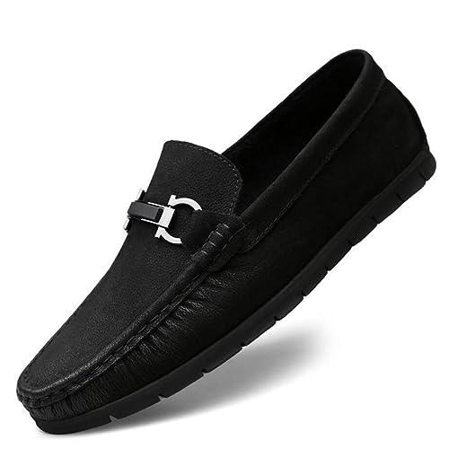 Zapatos de Hombre de Cuero New Street Fashion Hebilla Mocasines de Ante Casual Slip Ons Mocasines de Barco de conducción Zapatos (YAN) YAN: Amazon.es: ...