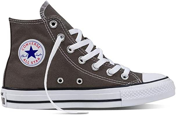 Converse Chuck Taylor All Star Shoes (1J793) Hi Top in Charcoal, 3.5 D(M) US Mens / 5.5 B(M) US Womens, Charcoal