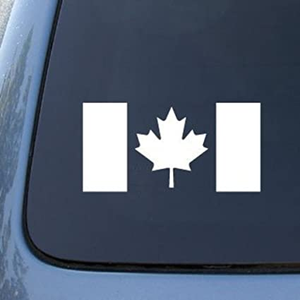 Cmi554 canada flag canadian die cut vinyl car decal sticker for car window bumper truck laptop