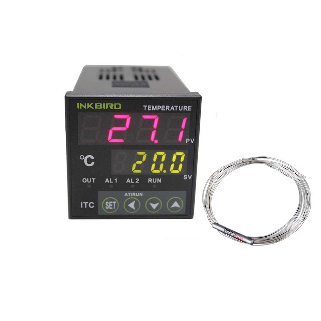 Inkbird Digital PID Temperature Controller on/off Thermostat Ac 100-240V ITC-100RH with PT100 Thermocouple