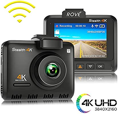 Amazon.com: Rove Stealth 4K WiFi Car Dash Cam 2.35