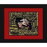 US Marine Corps Framed 16x20 Art Piece - Beautifully matted and framed behind glass