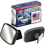 Made in USA, HD Metal Lense 360° Blind Spot Mirror by MaxiView, 2-Pack