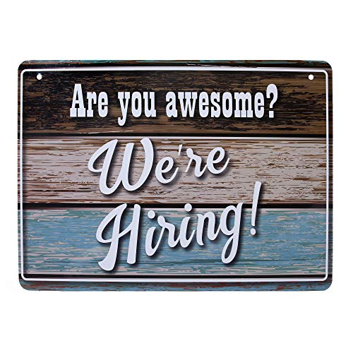 - We're Hiring Sign - Unique, Fun Help Wanted Sign for Store. Decorative, Hiring Sign for Business (8.25