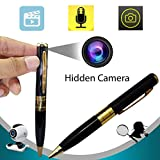 Bysameyee Meeting Video Recorder Camera Pen, Mini Portable DVR Cam Wireless PenCam Surveillance Security Camcorder