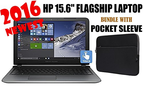 - HP Pavilion 15.6-Inch Flagship Laptop Bundle | Skylake Intel i7-6700HQ Quad-Core | FHD IPS Touchscreen | 8GB DDR3 | 1TB HDD | DVD | HDMI | 802.11AC | Windows 10 | pocket laptop Sleeve