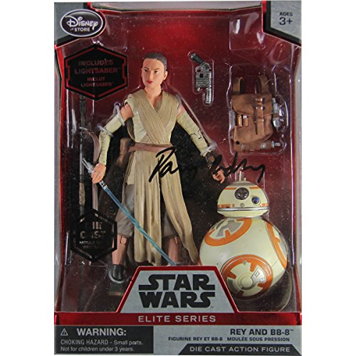 daisy-ridley-autographed-rey-and-bb-8-elite-series-die-cast-action-figures-6-star-wars-the-force-awa