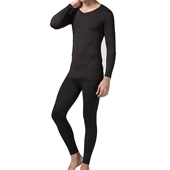 Winter Pullover Men Thermal Underwear Set Winter Warm Tops