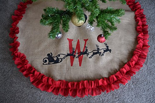 Santa Burlap Personalized Tree Skirt