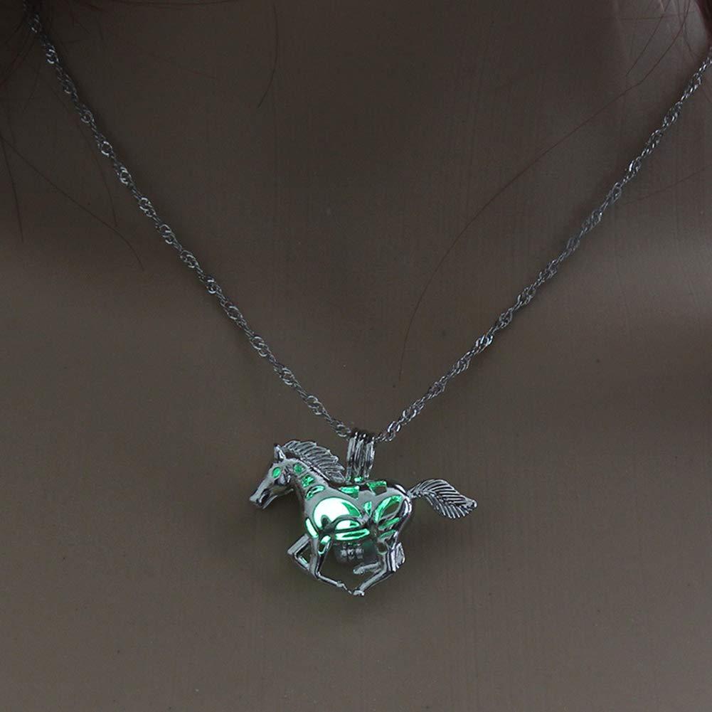 AIUIN Bijoux Collier Femme//Homme Homme Style de Cheval de Mode Cadeau de Couple Valentin F/ête des de No/ël Cadeaux danniversaire