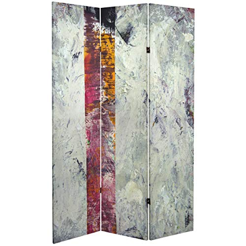 ORIENTAL FURNITURE 6 ft. Tall Double Sided November Light Canvas Room Divider ()