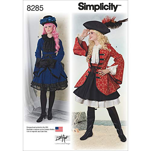 Creative Pirate Costume (Simplicity 8285  Women's Victorian Pirate Halloween and Cosplay Costume Sewing Pattern, Sizes)