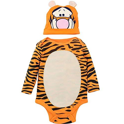 Disney Winnie The Pooh Baby Boys' Costume Bodysuit Hat Set, Yellow (6-9 -