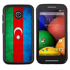 """Be-Star Único Patrón Plástico Duro Fundas Cover Cubre Hard Case Cover Para Motorola Moto E / XT1021 / XT1022 ( Bandera nacional de la Serie-Azerbaiyán"""" )"""