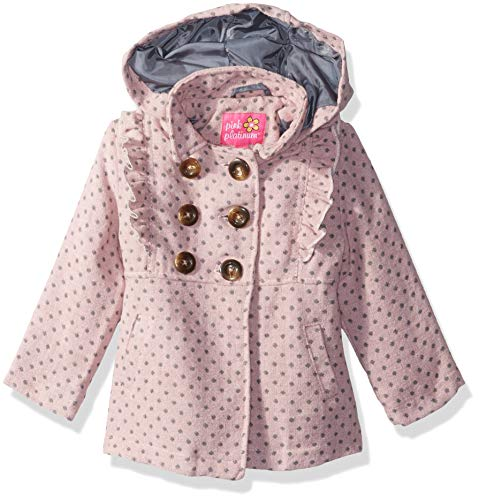 Pink Platinum Baby Girls Ruffles Wool Jacket, dot Blush, 24M ()