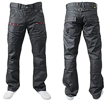 MENS JEANS EZ40 DESIGNER BLACK COATED JEANS CHEAP BARGAIN SALE ...