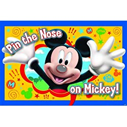 "Disney ""Mickey Mouse"" ""Pin the Nose on Mickey"" Party Game, Party Favor"