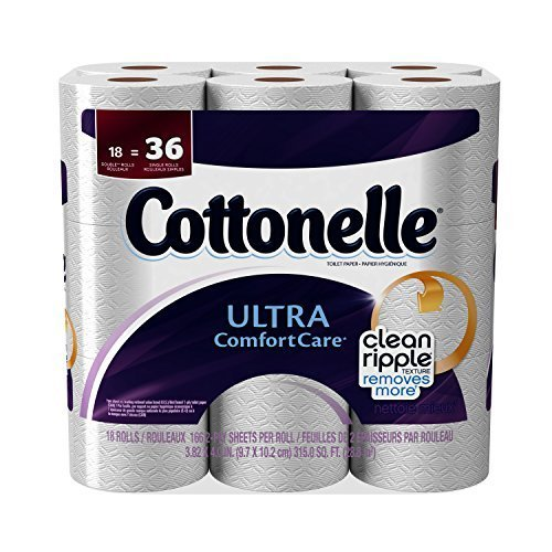 Cottonelle Toilet Paper Ultra Comfort Care Double Rolls - 18 CT by Kleenex Cottonelle Kleenex Ultra Toilet Roll