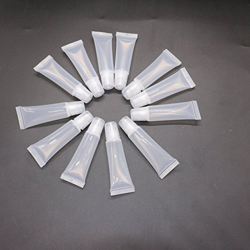 12 pcs Clear 8ml Refill Empty Tubes Containers for DIY Lip Gloss Balm/Cosmetic By (Lip Gloss Refills)