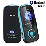 Mp3 Music Player with Bluetooth 16GB Support up to 64GB-Blue by FULITY