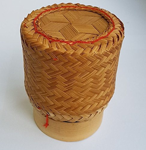 Thailand Sticky Rice Bamboo Basket Handmade Diameter 3 Kratib container for holding cooked glutinous rice