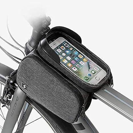 KUANDARMX Bolsa Bicicleta Película Protectora de Pantalla táctil a Prueba de Agua de polímero de PVC Separador de cursor de Silicona, Gray: Amazon.es: Deportes y aire libre