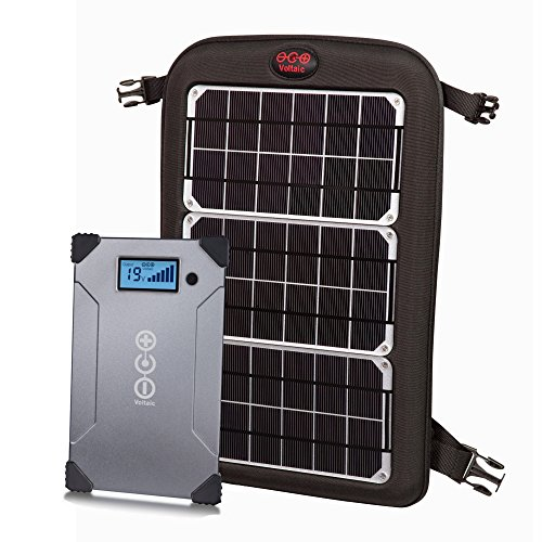 Voltaic Systems Fuse 10 Watt Rapid Solar Charger for Laptops | Included 24,000mAh Battery Pack and 2 Year Warranty | Powers Laptops Including MacBook, Phones, USB Devices and More - Silver ()