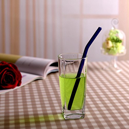 Feccile 7Pcs Reusable Glass Straws for Drinking by Feccile Kitchen (Image #7)