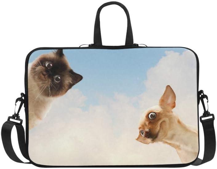 Laptop Sleeve Case 11 11.6 Inch Funny Cat and Dog Resistant Neoprene Laptop Sleeve Notebook Computer Pocket Case Tablet Briefcase Carrying Bag Laptop Shoulder Bag