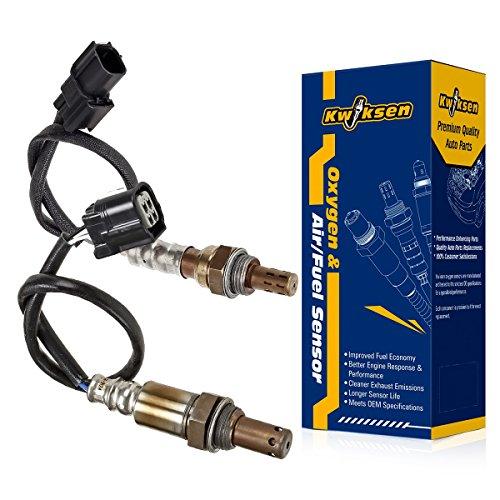 2pcs Air Fule Ratio Sensor Upstream and Downstream O2 Oxygen Sensor 234-9124 234-4350 Sensor 1 Sensor 2 Replacement for Honda Civic 1.8L Gas Engine 2007 2008 2009 2010 2011