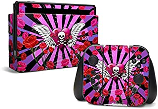 product image for Skull & Roses Pink - Decal Sticker Wrap - Compatible with Nintendo Switch