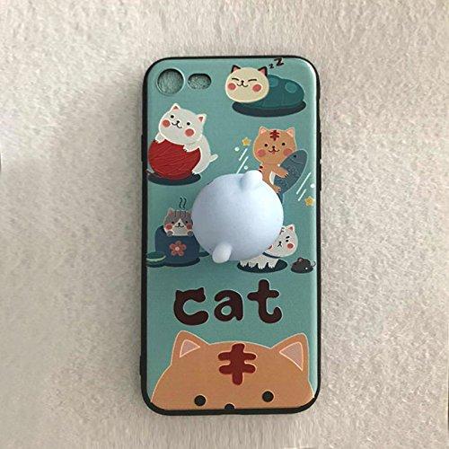 Pinzhi Pinzhi 3D Nizza Weiche Silikon Pappy Squishy Katze für iPhone 7 Case Octopus Telefon Fall Stil A