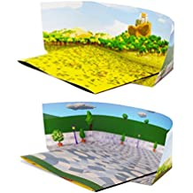 Backdrop for Lego Starwars Shopkins Action Figures Play; Double-Sided Backgrounds: Twice The Value for The Money; Great for Engaging Imagination, RPG Games Like Dungeons and Dragons; Single Pack