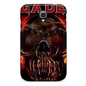 Shockproof Hard Phone Covers For Samsung Galaxy S4 With Customized Beautiful Megadeth Band Image ErleneRobinson
