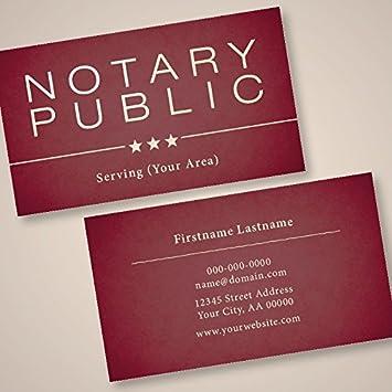 Ridesharetags Notaire Public Premium Personnalise Cartes De Visite