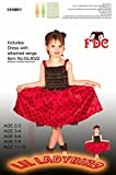 Lil Ladybird Dress Insect Girls Fancy Dress Costume Child - Age 5-6