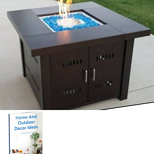 Gas Fire Pit Table Patio Backyard Outdoor Table Heater Outside With Table  Top Deck Garden Yard