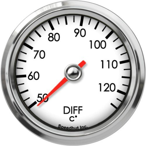 Speedhut GL26-DT01M Diff Temp Gauge 50-125C, 2-5/8'' by SpeedHut