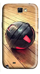 3D Black And Red Sphere PC Case and Cover for Samsung Galaxy Note 2/ Note II/ N7100