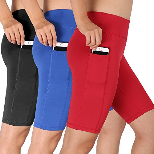 Cadmus Women's High Waist Running Workout Shorts with Pocket,3 ()