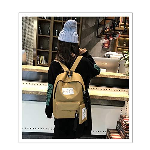 colore Viaggio Qxjpz Moda Da Di 30x121x39cm Tela Dimensioni Cachi Femminile Zaino Bianca Selvaggia Studentessa 6EqwHEz