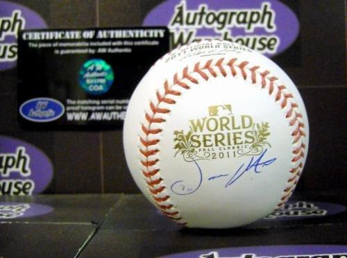 Jason Motte Autographed Baseball (Jason Motte autographed 2011 World Series Baseball - Autographed Baseballs)