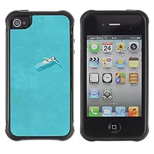WAWU Funda Carcasa Bumper con Absorci??e Impactos y Anti-Ara??s Espalda Slim Rugged Armor -- girl pretty pool swimming ocean relax -- Apple Iphone 4 / 4S