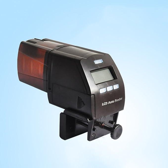 Cacoffay Automático Alimentador Pecera Sincronización Alimentación Digital Comida Para Pez Minutero Programable Comida Dispensador Para El Pescado: ...