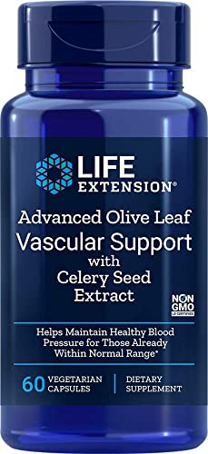 Life Extension Advanced Olive Leaf Vascular Support with Celery Seed Extract, 60 Vegetarian Capsules
