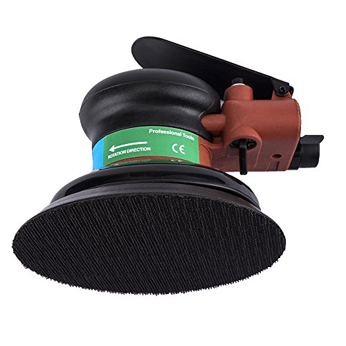 5 in Pneumatic Palm Random Orbital Polishing Grinding Sanding Sander with Pad Polisher Air Powered Orbit Pol