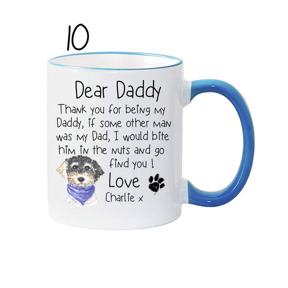birthday DAD DOG MUG anniversary FATHERS DAY gift for him valentines christmas